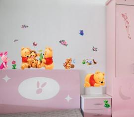 Pooh en Vriendjes Kinderkamer Muurstickers