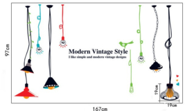 Vintage Gloeilampen MuurSticker