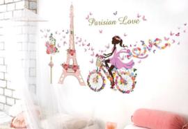 Romantische Parisian Love MuurSticker