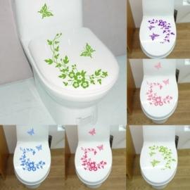 Vlinder Toilet Stickers - Paars