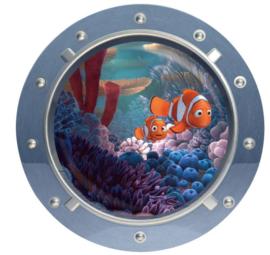 Oceaan Raam Nemo en zijn vader Muursticker