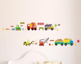 Stoere Vrachtwagen Muur Sticker Set