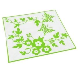 Vlinder Toilet Sticker - Groen