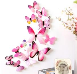 3D Roze Muurvlinders