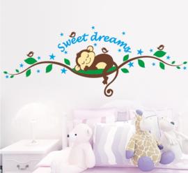 Sweet Dreams Aapje Muursticker