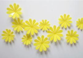 3D Gele Muurbloemen