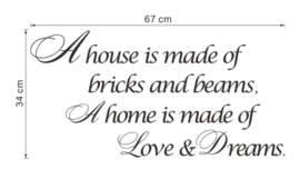 Poem: A House is made of Muursticker