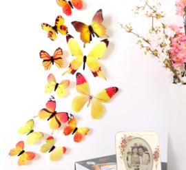 3D Gele Muurvlinders