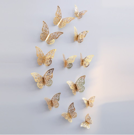 3D Gouden Vlinder Muurstickers