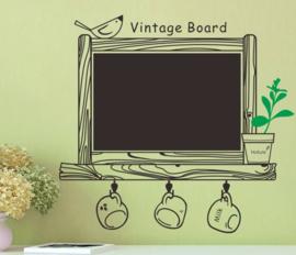 Vintage Keuken Krijtbord Muursticker