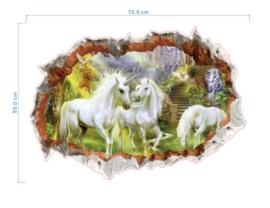 Witte Eenhoorn Muursticker