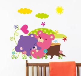 Gekleurde Knuffelberen Sticker