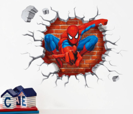 Spiderman Out of the Wall Sticker