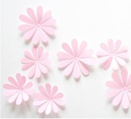 3D Roze Muurbloemen