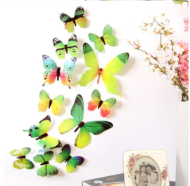 3D Groene Muurvlinders