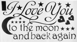 I Love You to the Moon Muursticker
