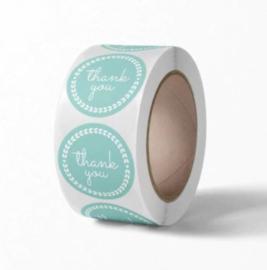 Labels - Thank you - Gracieus Mint (500 stuks)