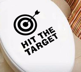 Hit the Target Toilet Sticker
