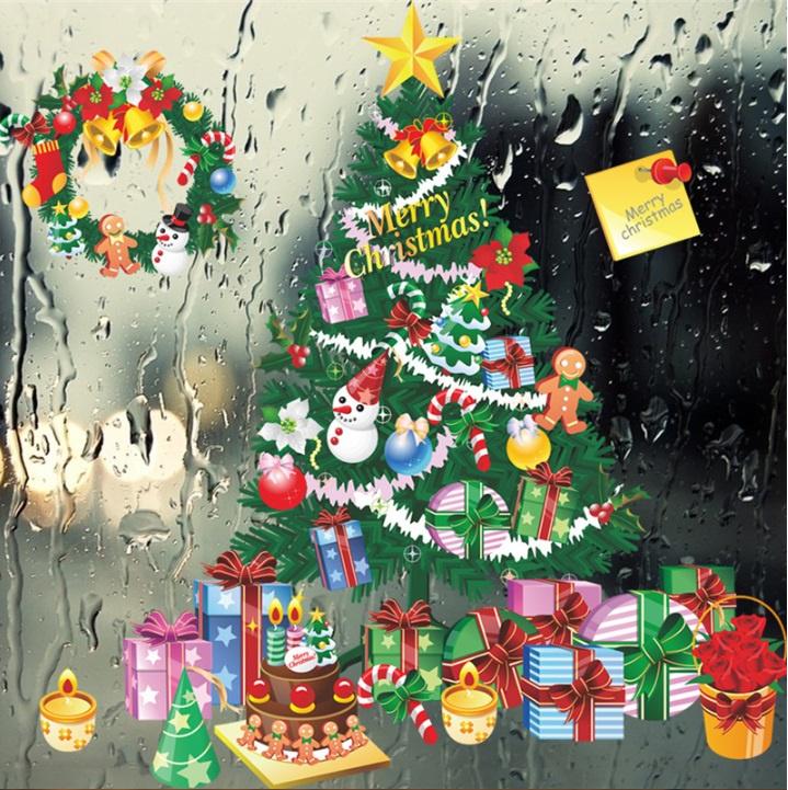 Kerstboom Sticker voor Muur of Raam
