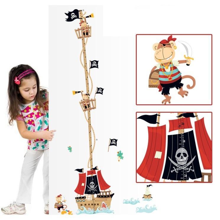Piraten Groeimeter Muursticker
