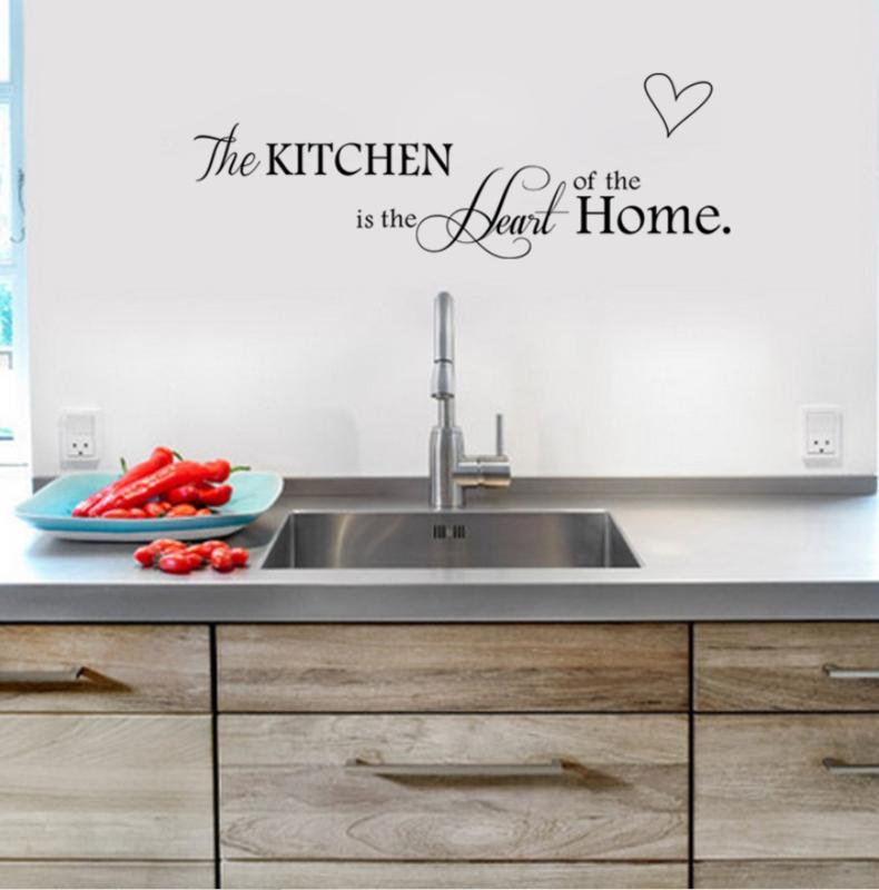 Kitchen is Heart of the Home Muursticker