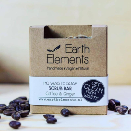 Earth Elements - Scrub Bar Coffee & Ginger (No Waste)