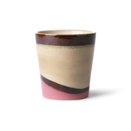 HKliving - Ceramic 70's Coffee Mug - Dunes (ACE6862)