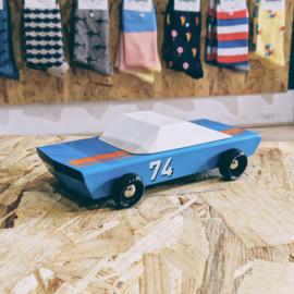 Candylab Toys Houten Auto - Blu 74