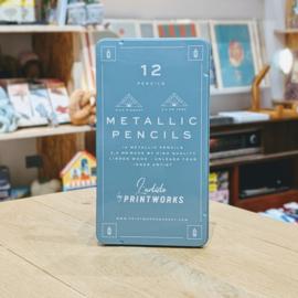 Printworks - 12 Colour Pencils - Metallic