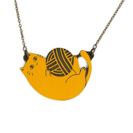 Materia Rica - Playful Cat Ginger Necklace