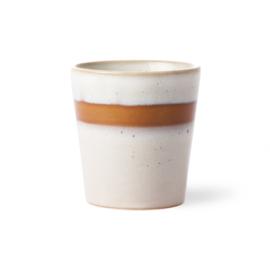 HKliving - Ceramic 70's Coffee Mug - Snow (ACE6047)