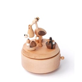 Wooderful Life - Music Box - Baby Stork Delivery (#16)