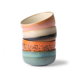 HKliving - Ceramic 70's Dessert Bowls - Set of 4 (ACE6956)