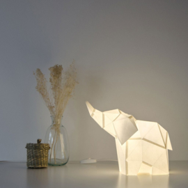 OWL Paperlamps - Baby Elephant Cotton White