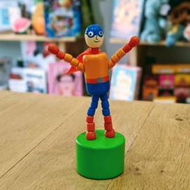 Jack Rabbit Creations - Pushpuppet Superhero (Blue Helmet)