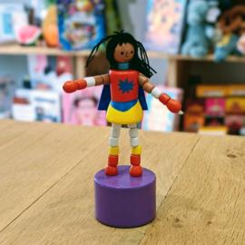 Jack Rabbit Creations - Pushpuppet Superhero (Black Hair)