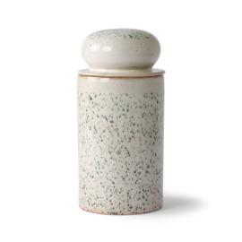HKliving - Ceramic 70's Storage Jar - Hail (ACE6959)