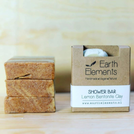 Earth Elements - Shower Bar Lemon Bentonite Clay