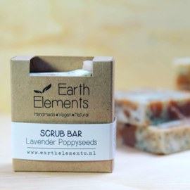 Earth Elements - Scrub Bar Lavender Poppyseeds