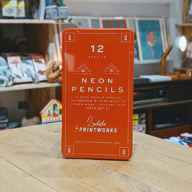 Printworks - 12 Colour Pencils - Neon