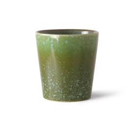 HKliving - Ceramic 70's Coffee Mug - Grass (ACE7006)