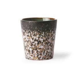 HKliving - Ceramic 70's Coffee Mug - Mud (ACE6040)