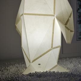 OWL Paperlamps - Small Penguin - Cotton White + Soft Blue