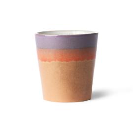 HKliving - Ceramic 70's Coffee Mug - Sunset (ACE6860)