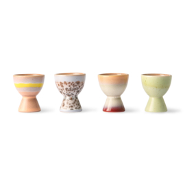 HKliving - Ceramic 70's Egg Cups - Set of 4 (ACE6975)