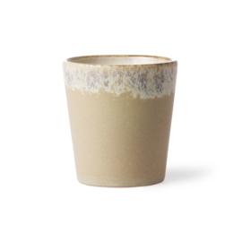 HKliving - Ceramic 70's Coffee Mug - Bark (ACE6768)