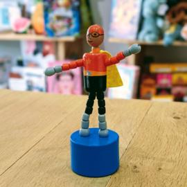 Jack Rabbit Creations - Pushpuppet Superhero (Orange Helmet)