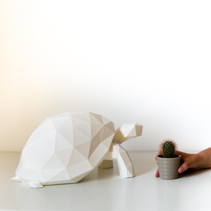 OWL Paperlamps - Tortoise - Cotton White