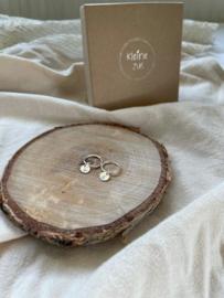 Oorbel met initiaal of symbool | Echt zilver