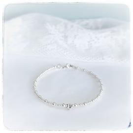 Mama armband zilver met initiaal | Kiki